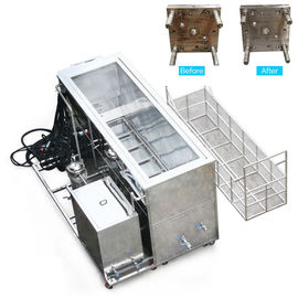 2 Tank Ultrasonic Cleaning Equipment 266L , Injection Mold Cleaning Machine