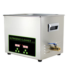 Hardware Parts Digital Ultrasonic Cleaner 10L , Commercial Ultrasonic Jewelry Cleaner Machine