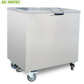 168L 230L Kitchen Hood Stainless Steel Soak Tank With Lockable Castor Wheels