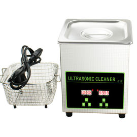 50W 40khz Stainless Steel Mini Ultrasonic Cleaner Bath 2L With Digital Timer